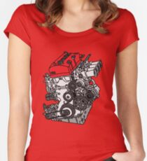 Honda S2000 F20C Engine Women's Fitted Scoop T-Shirt