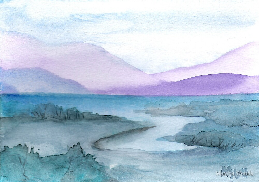 Watercolor landscape by Marsha Woods