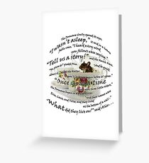 "Dormouse ""Alice in Wonderland"" Greeting Card"