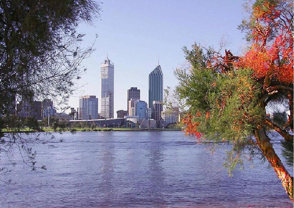 Perth from  South Perth by georgieboy98