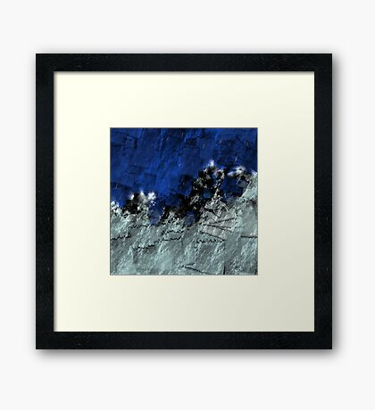 A sea storm in my heart Framed Print