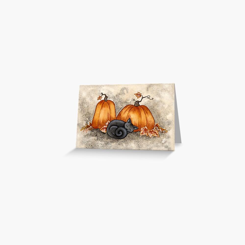 Pumpkin Nap Greeting Card