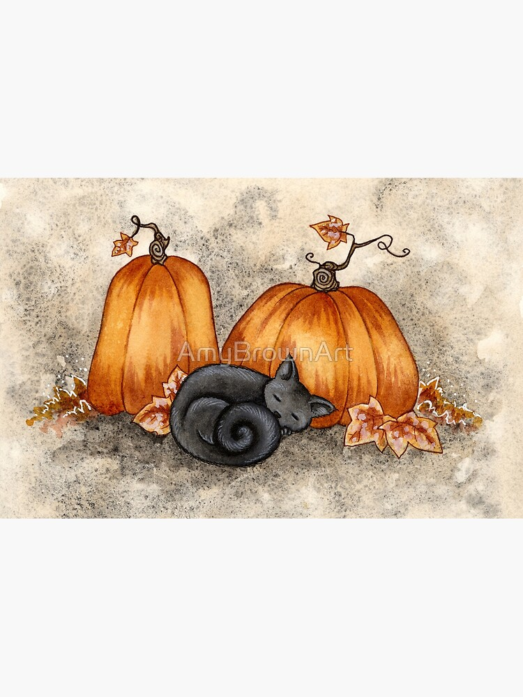 Pumpkin Nap by AmyBrownArt