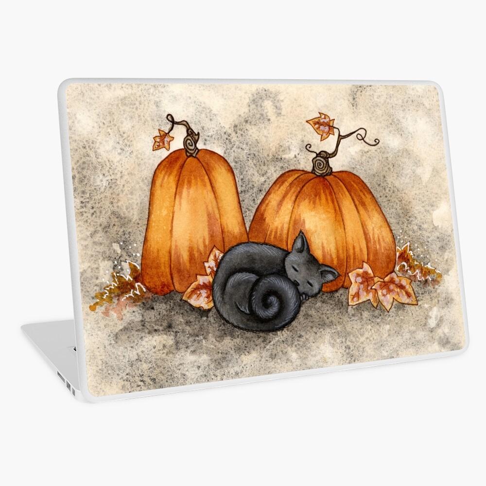 Pumpkin Nap Laptop Skin