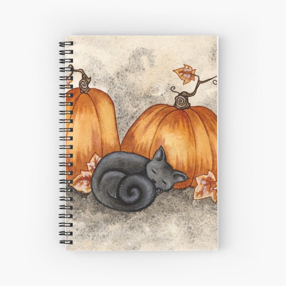 Pumpkin Nap Spiral Notebook