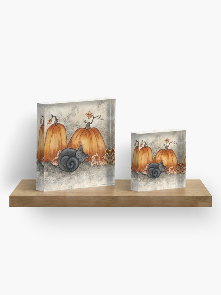 Alternate view of Pumpkin Nap Acrylic Block