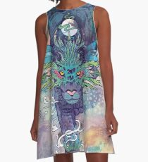 Spectral Cat A-Line Dress