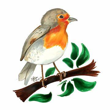 British Robin by sinamonroll