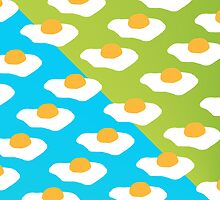 Eggsellent (blue + green) by wallpaperfiles