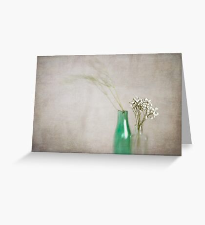 Simplicity In Green Greeting Card