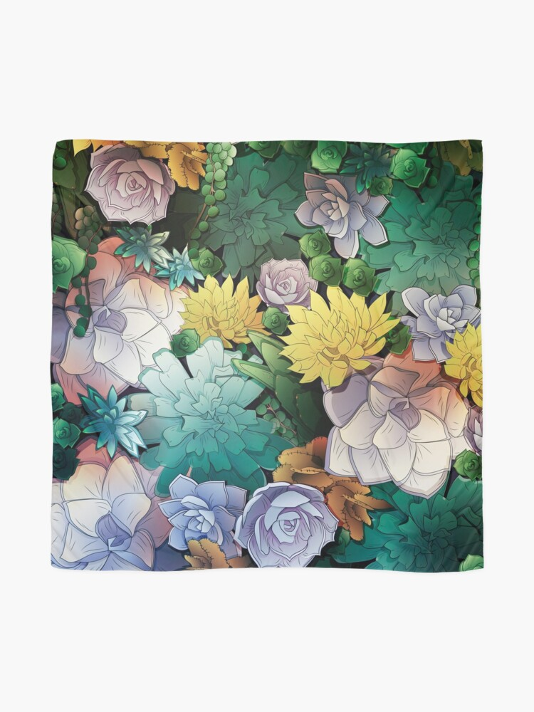 Alternate view of Succulent World Scarf