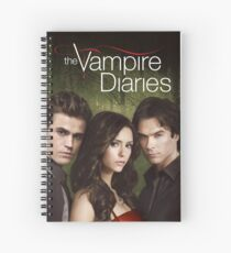 Stefan Elena Damon The vampire diaries Spiral Notebook
