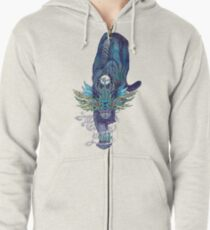 Spectral Cat Zipped Hoodie