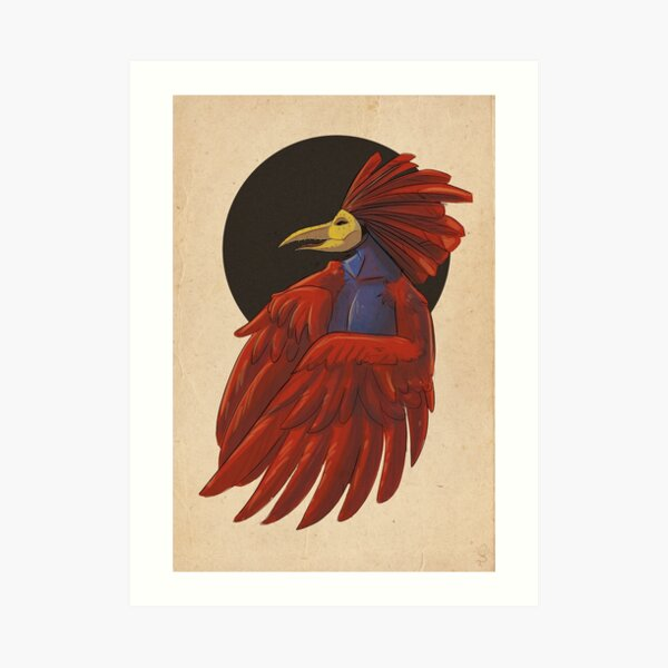 Gallo with mask Art Print