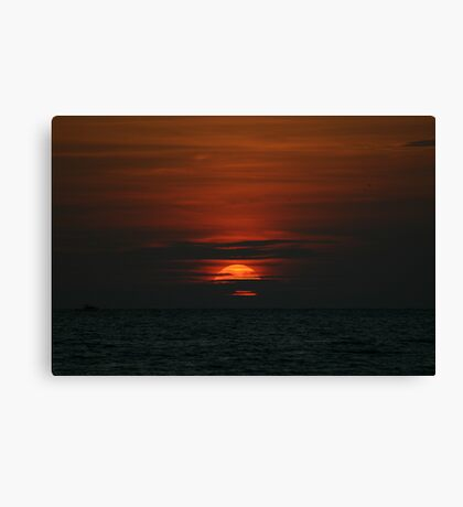 Sun on the clouds Canvas Print