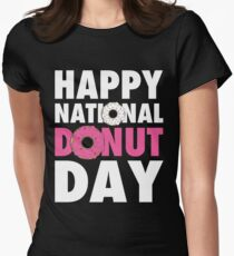 Happy National Donut Day (June 2nd 2017) Womens Fitted T-Shirt