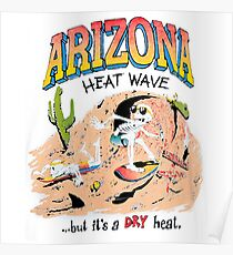 Arizona Heat Wave Skull Poster