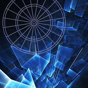 Abstract Blue Darts by mydartshirts