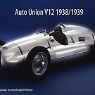 Auto Union V12 by Phillip  McCordall