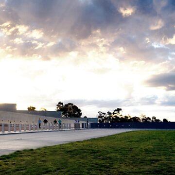 Parliament House by dusk