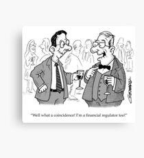 Toothless Financial Regulator Canvas Print