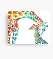 Giraffe Mama und Baby Leinwanddruck