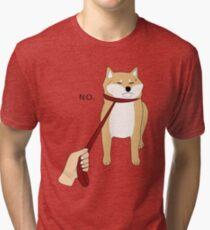 Shiba Inu No Tri-blend T-Shirt