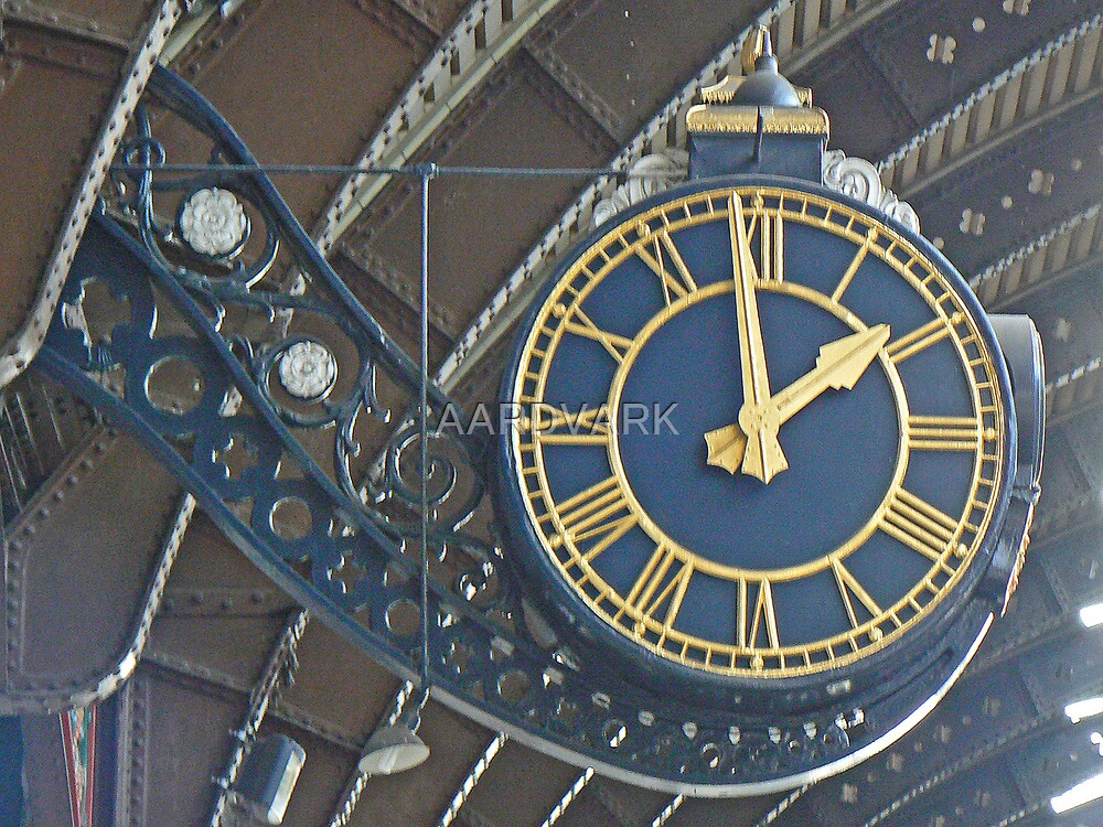 The Station Clock At York Railway Station by AARDVARK