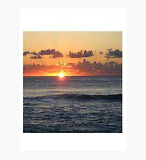 Beautiful Barbados Sunset Photographic Print
