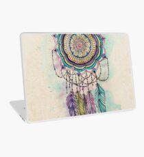 Modern tribal hand paint dreamcatcher mandala design Laptop Skin