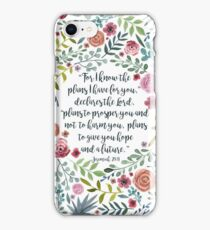 Jeremiah 29:11 iPhone Case/Skin