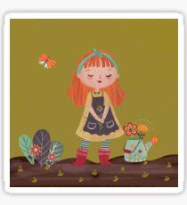 Garden girl  Sticker