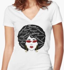 Natural Queen Women's Fitted V-Neck T-Shirt