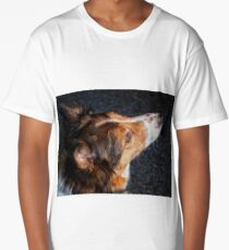 The face of a Collie Long T-Shirt