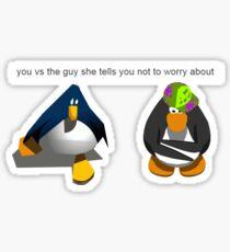 You Vs The Guy - Club Penguin Edition Sticker