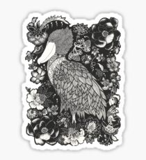 Shoebill in the Garden Sticker