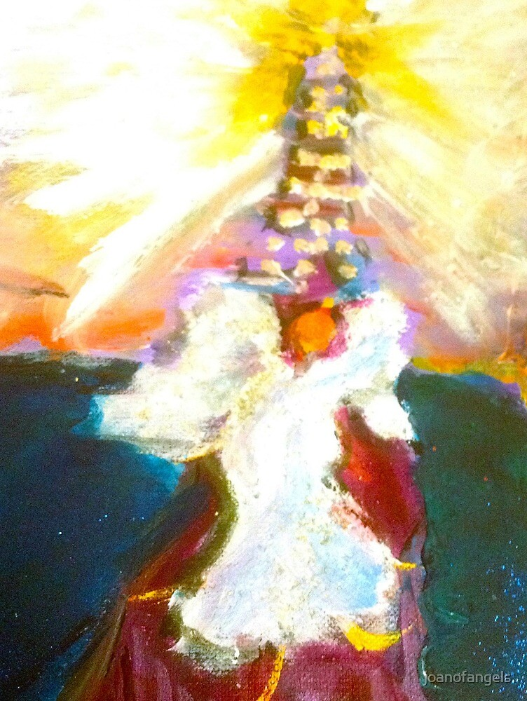 Angel Approaching the Ascension Tower by joanofangels