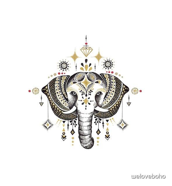 Bohemian Elephant by weloveboho