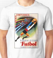 PANAMERICAN SOCCER: Vintage Futbol Advertising Print Unisex T-Shirt