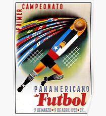 PANAMERICAN SOCCER: Vintage Futbol Advertising Print Poster