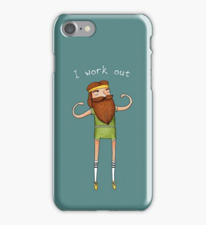 I work out iPhone Case/Skin