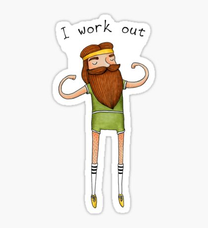 I work out Sticker