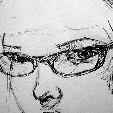 Self in pen by Luckyvegetable