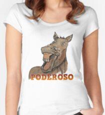 Powerful Horse Camiseta entallada de cuello redondo