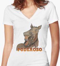 Powerful Horse Camiseta entallada de cuello en V