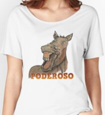 Powerful Horse Camiseta ancha para mujer