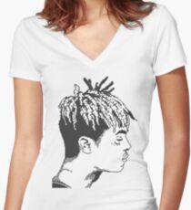 xxxTentacion 8 bit/Pixel art  Women's Fitted V-Neck T-Shirt