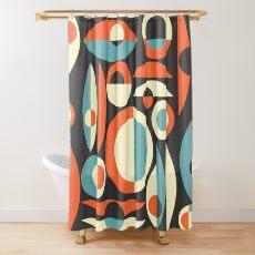 Retro Eames Era  Pisces Shower Curtain