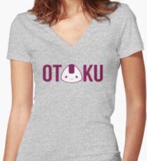 OTAKU Women's Fitted V-Neck T-Shirt