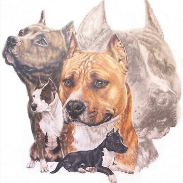 American Pit Bull Terrier Grouping by BarbBarcikKeith